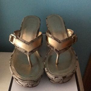 Gold Coach Wedges